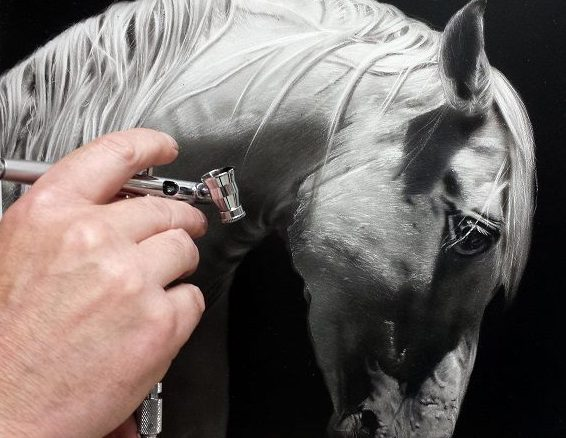 cheval à l aérographe, école du réalisme, formations aérographe