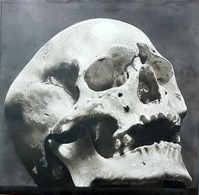 skull à l aérographe en formation peinture