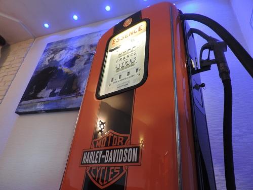 Décor sur pompe à essence-Harley-Davidson