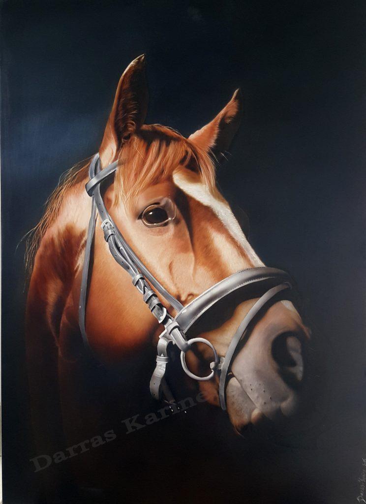 cheval à l aérographe ,école du réalisme, formations et stages aérographe