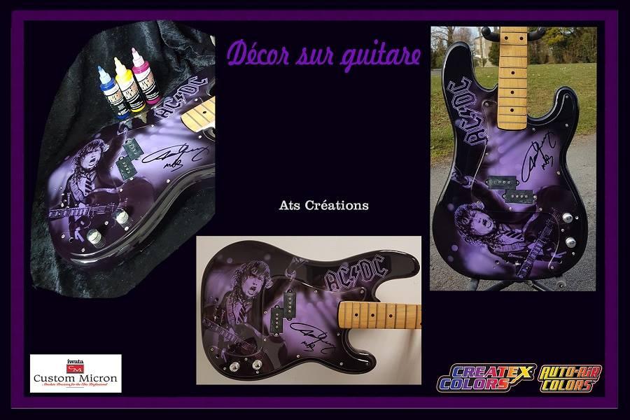 peinture sur guitare