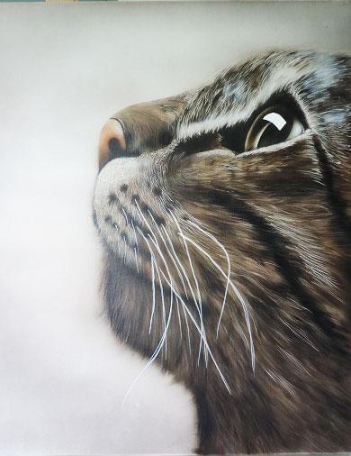 chat-réalisé-à- l aérographe-par-karine