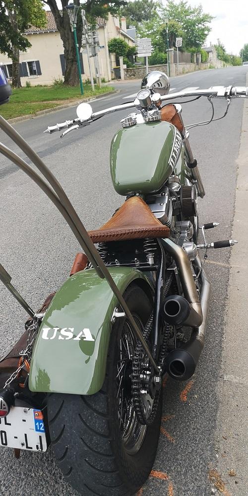 peinture moto sur le thème -armée