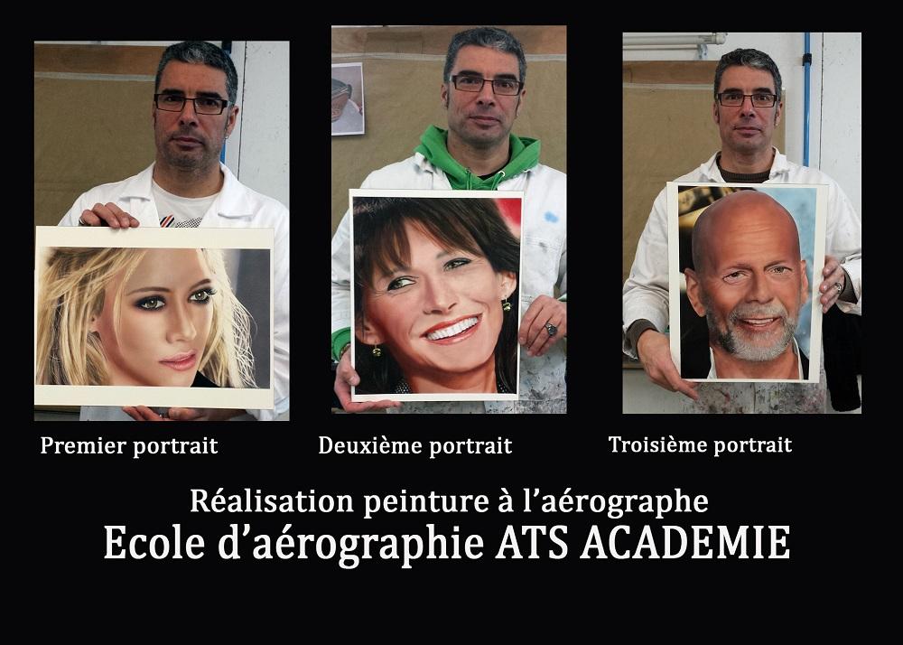 portrait à l aérographe, formation et stage aérographe