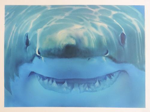 requin à l aérographe, peinture réaliste , formation aérographe,