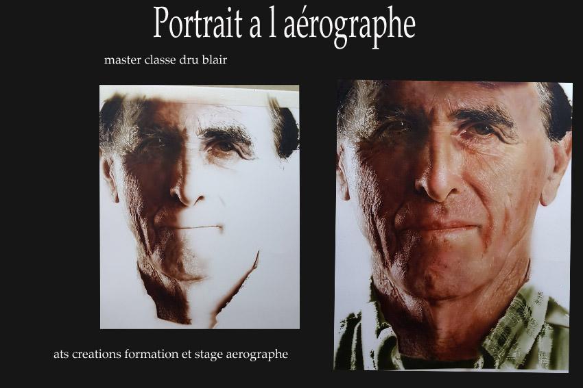 portrait à l aérographe, formations et stage peinture en hyperréalisme, potiers ,vienne
