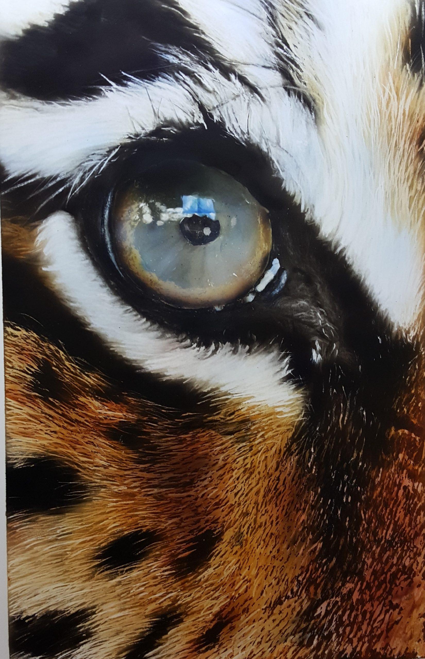 œil de tigre a l aérographe