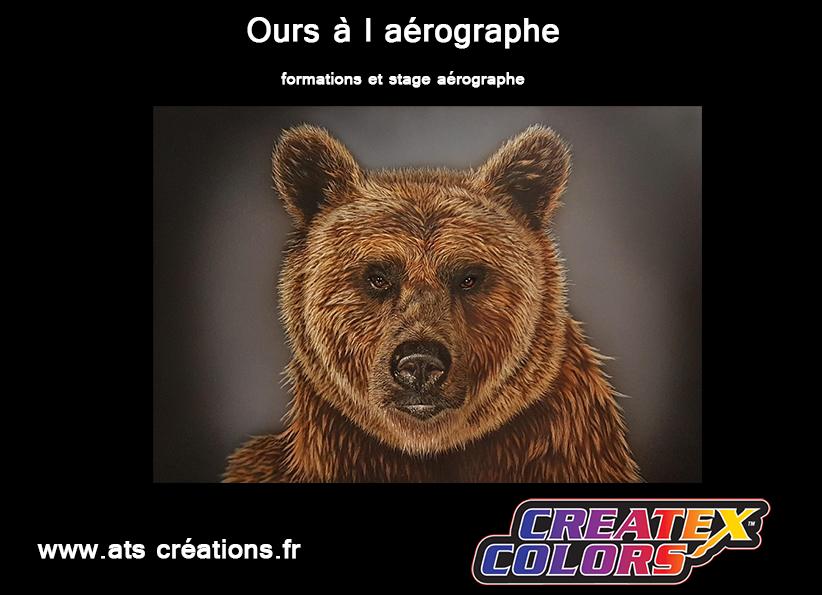 ours a l aérographe, formation aérographe
