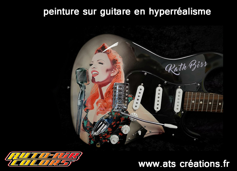 peinture-guitare-art-artiste-peintre-peindre-colorimétrie-réalisme-décoration-airbrush-Poitou-vienne-art-acrylique-aérographie-école-formation-kate-biss