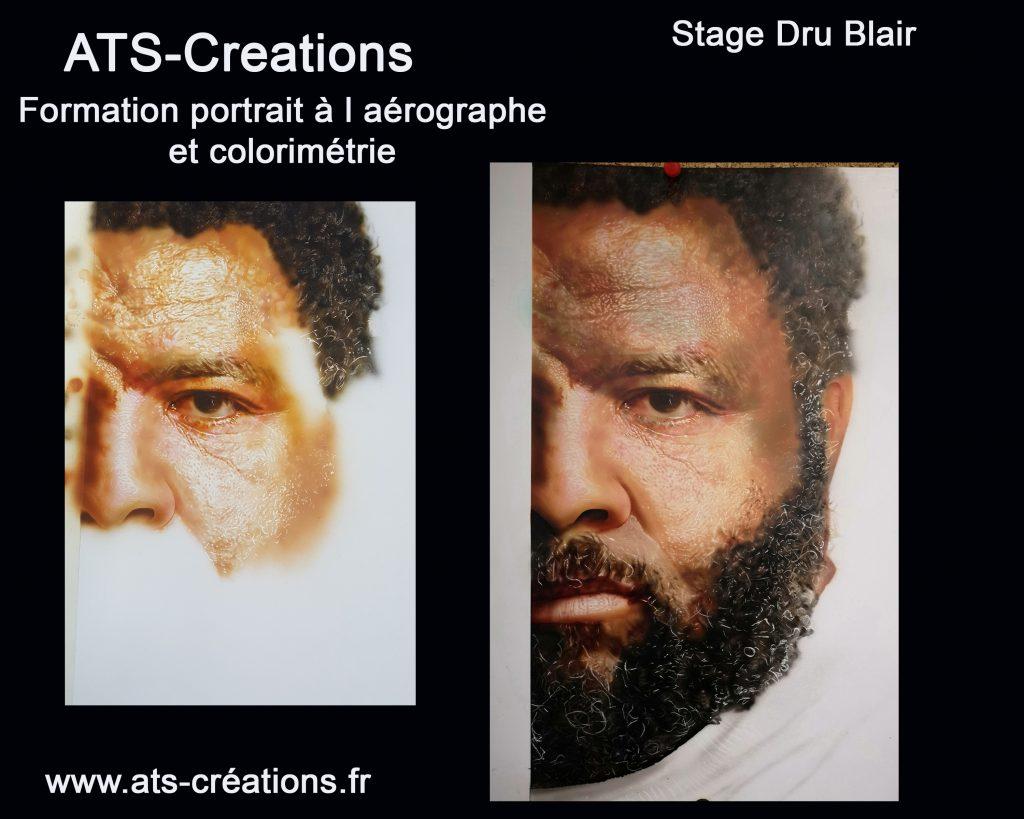 portrait couleur à l aérographe, stages et formations aérographe