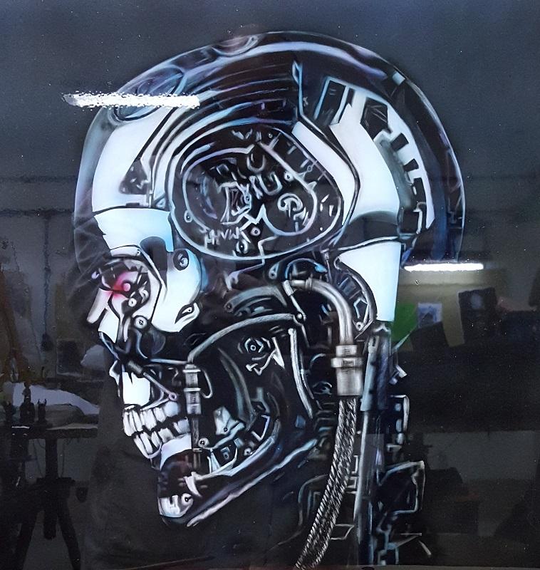 skull-effet-chrome-a-l-aérographe