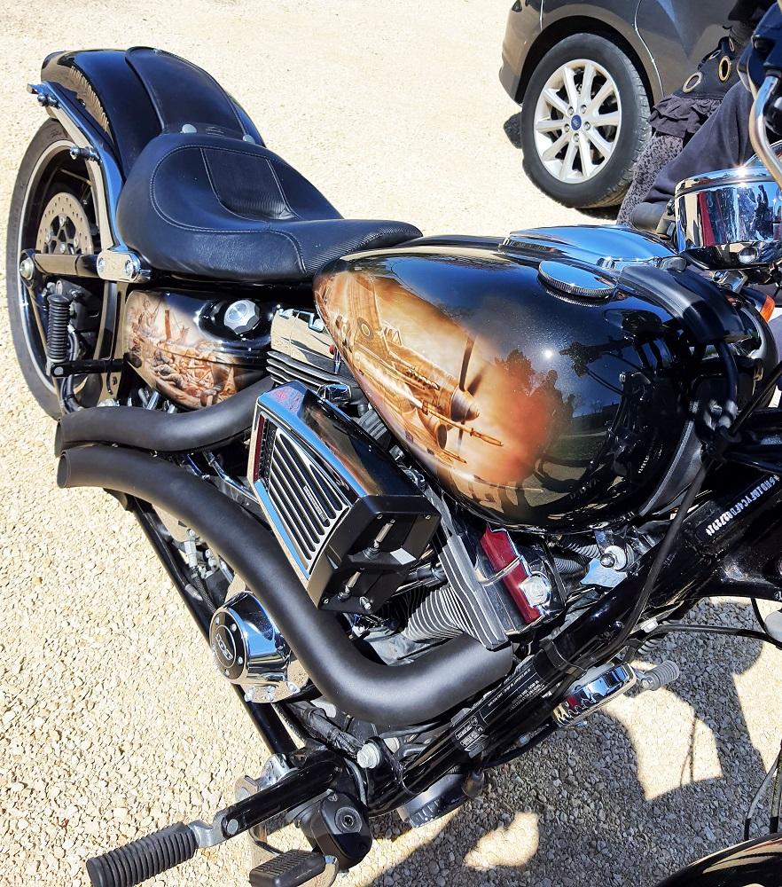 formations et stages aérographe sur moto Harley Davidson